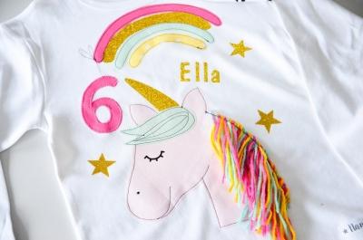 Kindershirt, Geburtstagsshirt, Einhorn