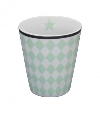 Krasilnikoff Happy Mug Becher Harlekin mint