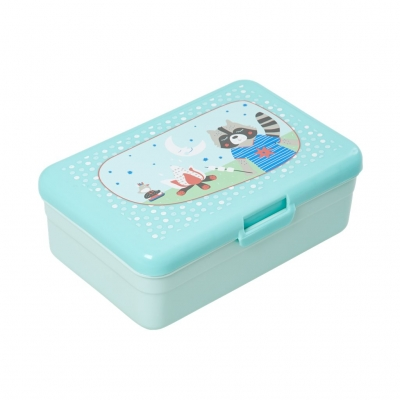 Rice Kinder Lunch-Box - Kids Lunch Box Happy Camper Print - Mint