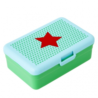Rice Kinder Lunch-Box - Kids Lunch Box STARS Print - grün