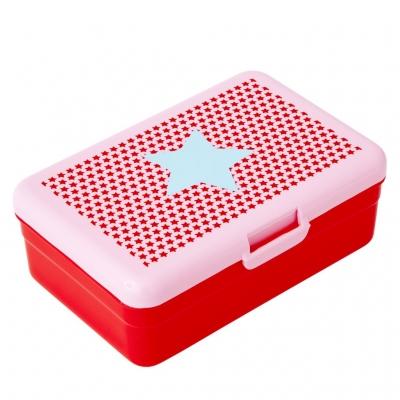 Rice Kinder Lunch-Box - Kids Lunch Box STARS Print - rosa