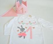 Kindershirt, Geburtstagsshirt, Hase