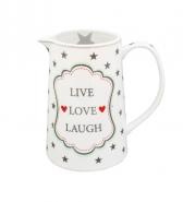 Krasilnikoff Happy Krug Jug -LIVE LOVE LAUGH-
