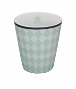 Krasilnikoff Happy Mug Becher Harlekin mint