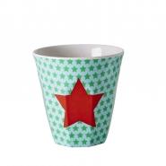 RICE Melamine Kinderbecher STAR grün