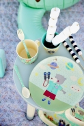 Rice Melamin Kinderteller Boys Happy Camper,online kaufen