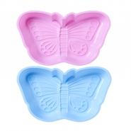 Silikon Backform Schmetterling von Rice blau